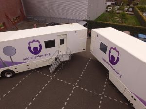 Dronefoto mobiele tandartspraktijken Stichting Mondzorg